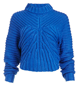 J.O.A. Cable Knit Crop Sweater