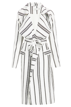 Cameo Real Talk Stripe Trench Coat