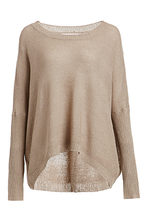 Denzel High Low Knit Sweater