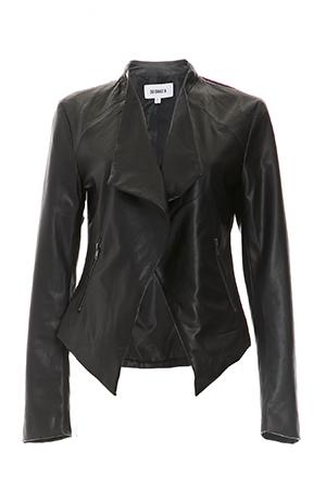 BB Dakota Vegan Leather Slate Jacket