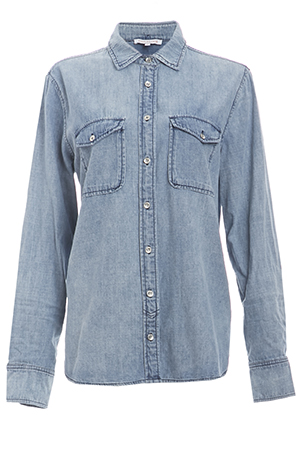 Chambray Classic Cotton Button Down
