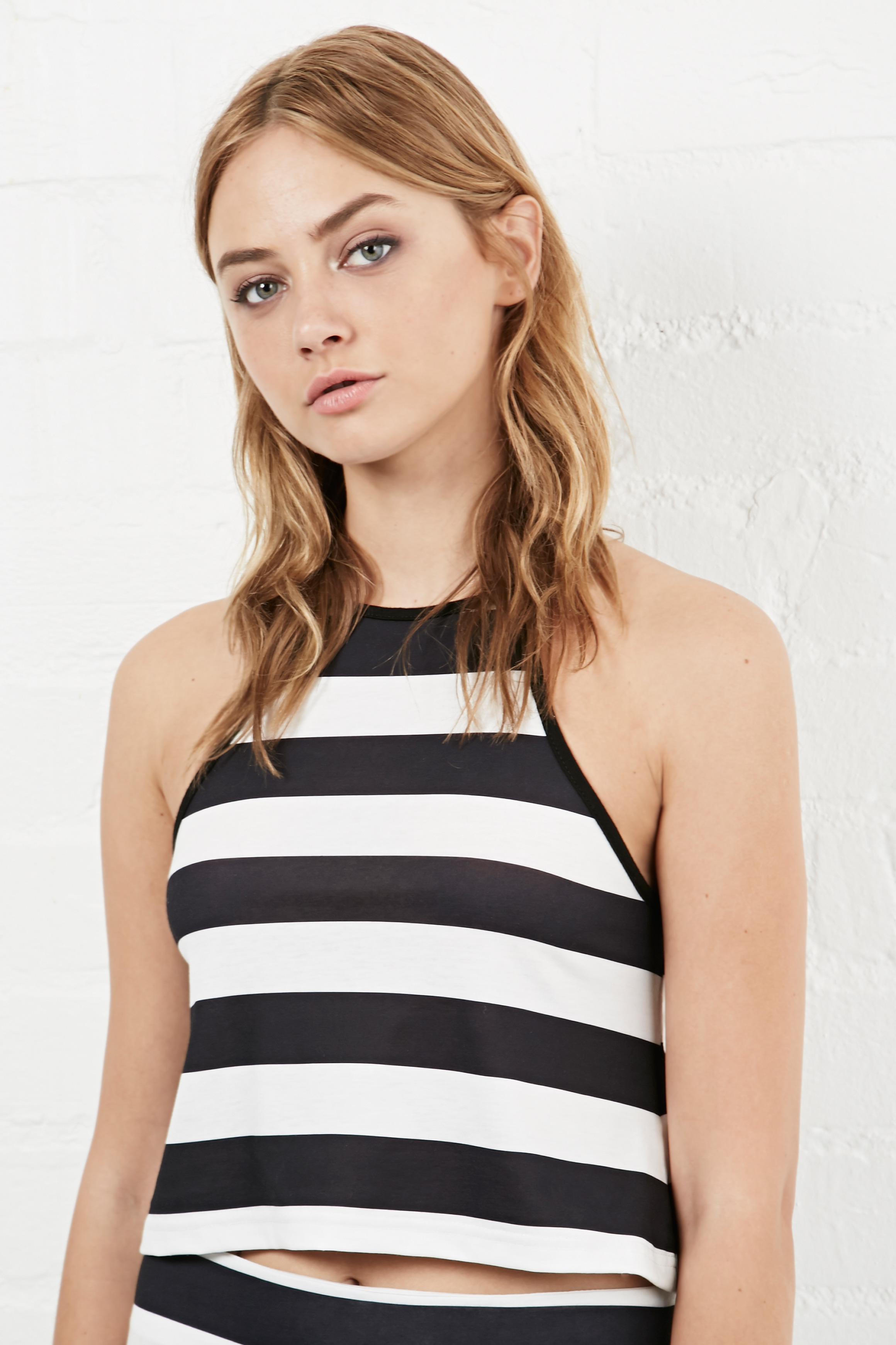 Somedays Lovin Open Air Stripe Halter Top