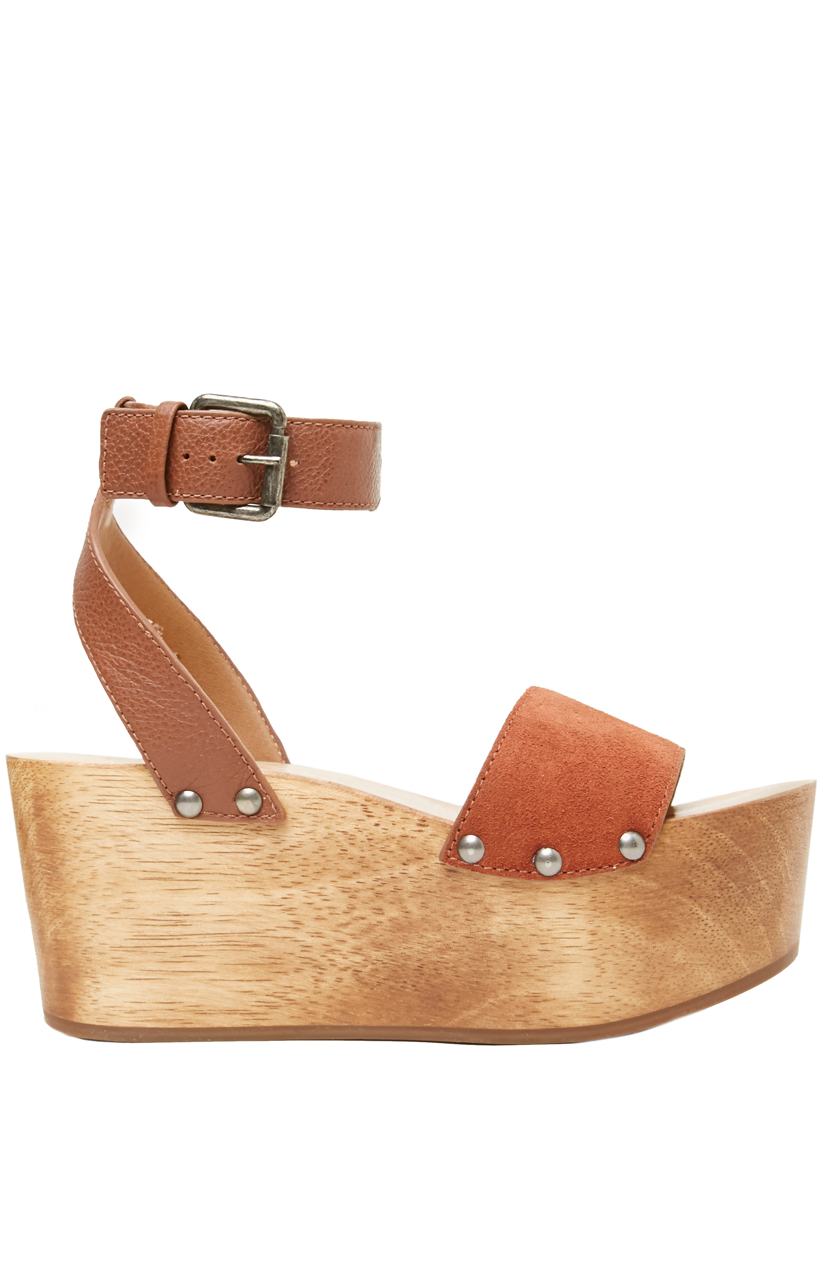 Kelsi Dagger Brooklyn Leather Willow Ankle Strap Platform Heel