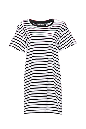 The Fifth Label Building Blocks Striped T-Shirt Dress