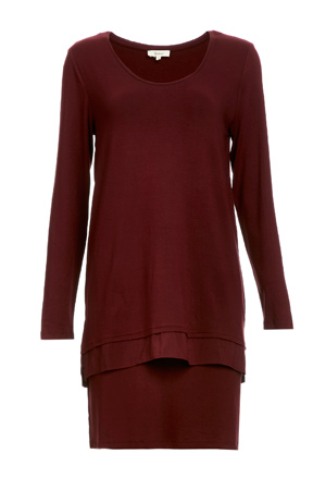 Yerse Layerd Jersey Knit Dress