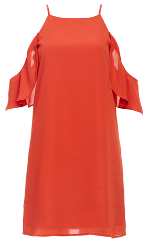 Fall Flutter Sleeve Shift Dress