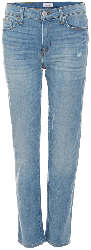 Hudson Zoeey Mid Rise Crop Slim Straight Jeans