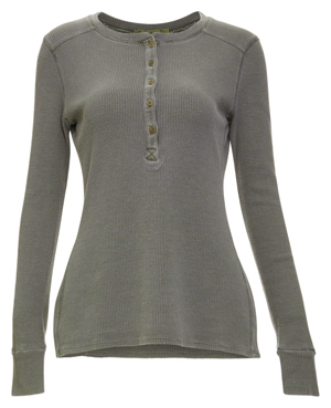 Stateside Long Sleeve Thermal Henley