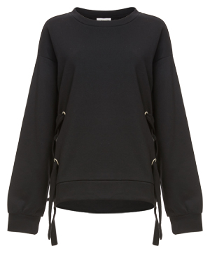 Knit Sweatshirt w/ Side Ties
