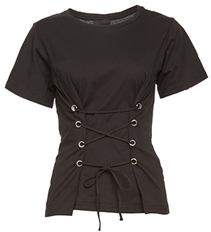 Lace-Up Corset Tee