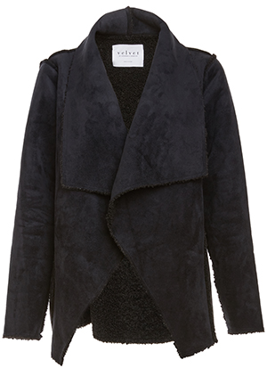 Velvet by Graham & Spencer Draped Faux Sherpa Jacket