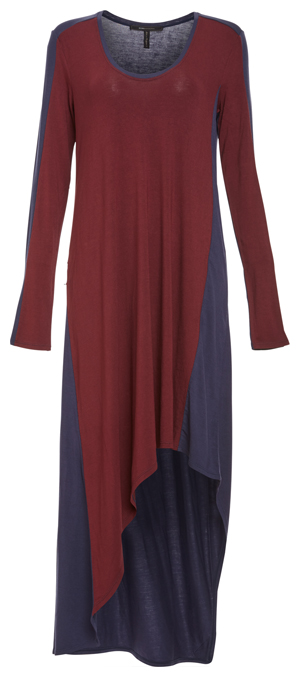 BCBG Color-Blocked Asymmetrical Dress