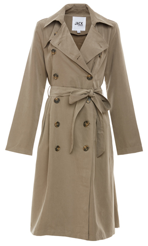Jack by BB Dakota Double Breasted Belted Trench Coat