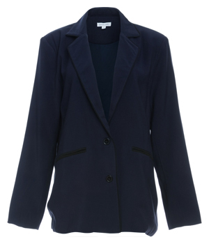 Blazer with Piping Detail