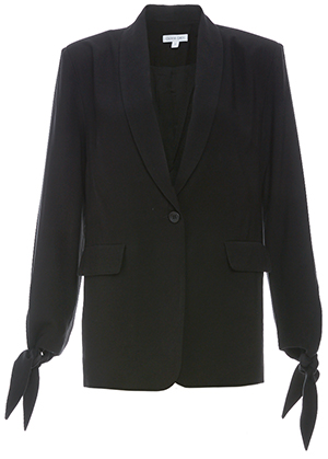 Single Button Blazer with Wrist Ties
