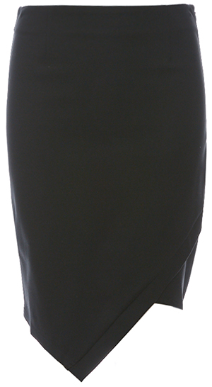 A-Symmetrical Fitted Flap Skirt