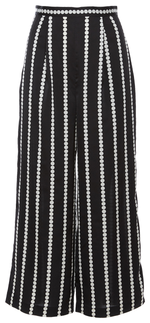 Finders Keepers Polka Dot Stripe Palazzo Crop Pant