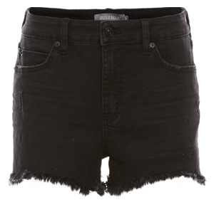 Just Black High Rise Side Slit Short