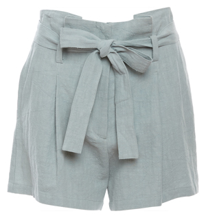 Moon River Self Tie Belted Shorts