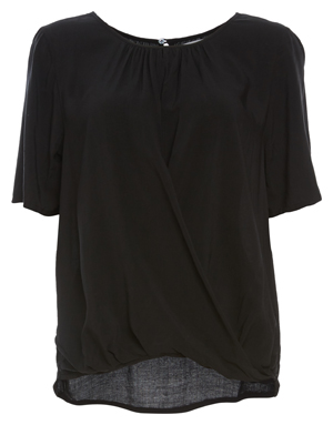 Velvet by Graham & Spencer Crisscross Short Sleeve Top