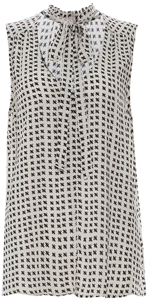 Velvet by Graham & Spencer Printed Neck Tie Top