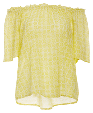 Velvet by Graham & Spencer Cotton Shirting Off Shoulder Top