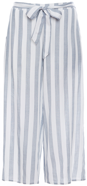 Striped Tie Waist Culotte