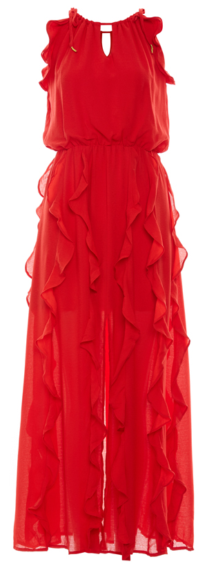 Moon River Ruffle Maxi Dress