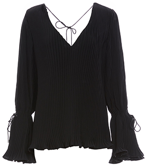 C/MEO Collective Pleated Long Sleeve Top