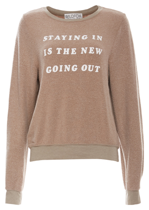 Wildfox Stay In Baggy Sweater