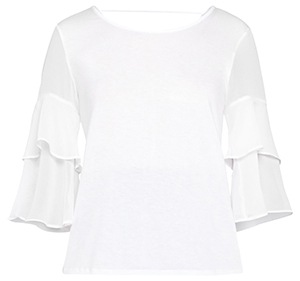 BCBGeneration Tiered Ruffle Sleeves Top