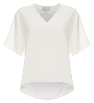 3.1 Phillip Lim Short Sleeve Top with Raw Edge Trim