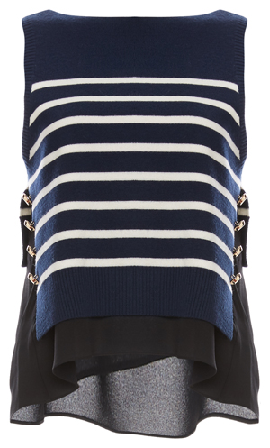 3.1 Phillip Lim Cropped Nautical Tank with Undershirt
