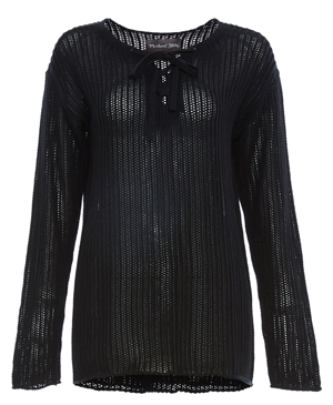 Michael Stars Lace-Up Sweater