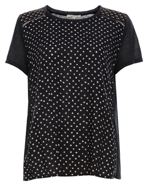 Mystree Short Sleeve Print Front Top