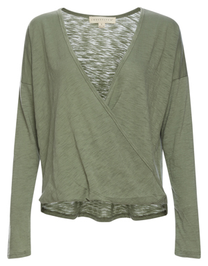 Surplice Long Sleeve Top