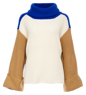 Cozy Knit Color Block Sweater
