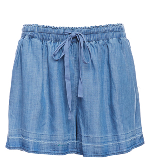 Skies Are Blue Release Hem Tencel Shorts