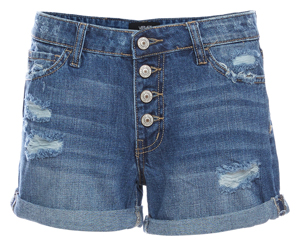 Vervet Button Up Cuffed Boyfriend Shorts