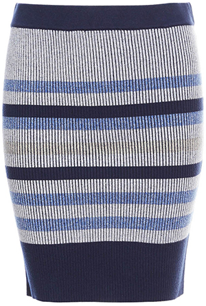 BCBGeneration Knitted Striped Skirt