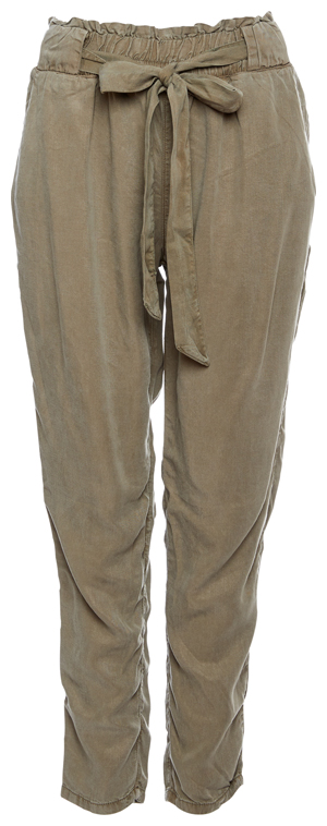 Paperbag Stretch Waist Tie Pants