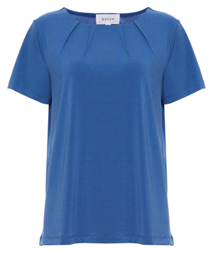Short Sleeve Pleated Neck Top