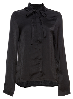 Vero Moda Neck Tie Long Sleeve Satin Top