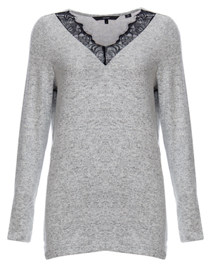 Vero Moda V-Neck Lace Detail Sweater