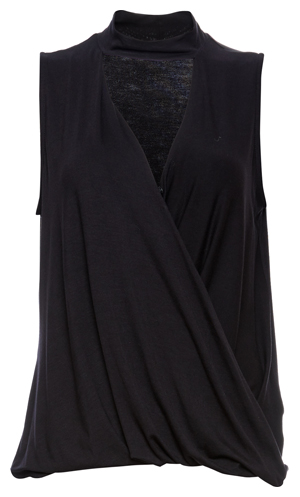 Ellen Collared Surplice Top