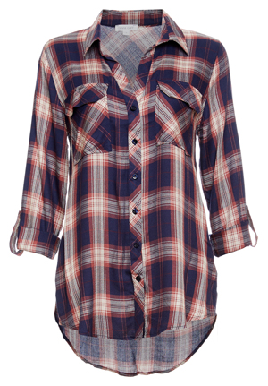 Button Up Two Pocket Plaid Shirt
