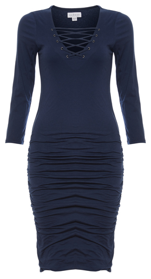 Velvet by Graham & Spencer Lace Up Front Bodycon Dress