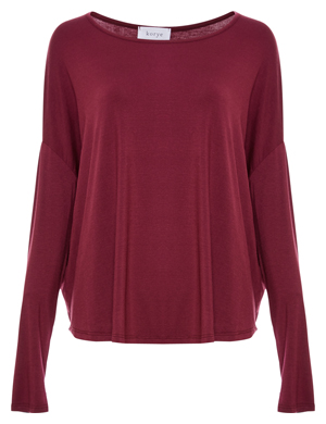 Scoop Neck Loose Long Sleeve Top