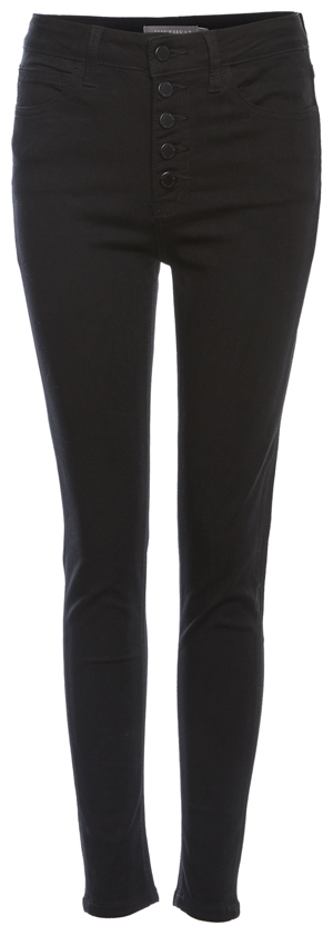 Just Black High Rise Button Fly Skinny