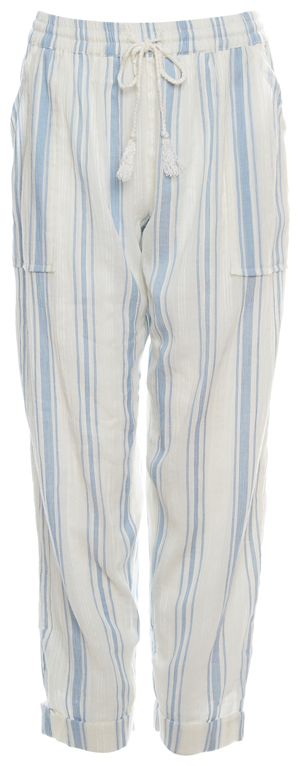 Striped Drawstring Gauze Pants